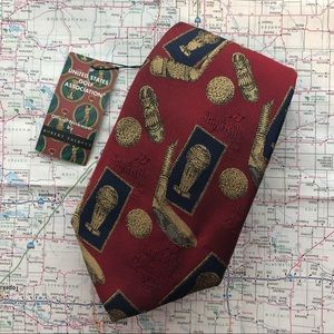 NWT Robert Talbott red golf necktie